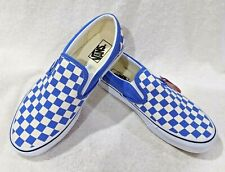 Vans Women's Classic Ultramarine/White Checkerboard Slip On Shoes - Size 7 NWB