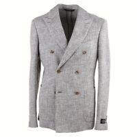 Belvest Soft-Constructed Brown and White Melange Cotton-Silk Sport Coat Slim 40R
