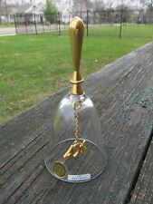 Nice Gerity Crystal & 24K Gold Handled Glass Bell 40th Birthday / Anniversary