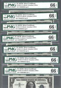 US Silver Certificate 1957B $1 ✨ Fr#1621 (VA Block) ✨ PMG 66 EPQ #82331