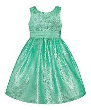 American Princess Girls Size 6 Spring Green Sequin Swirl Dress NEW! GORGEOUS!