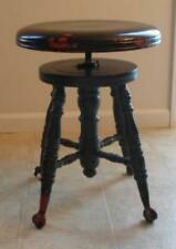 New ListingAntique Piano Stool Chas. Parker Co. Meriden Ct Adjustable Glass Ball Claw Feet
