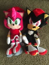 Sonic The Hedgehog Plush Stuffed Shadow + Amy Rose Lot Set