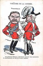 POSTCARD   COMIC  / SATIRE  MILITARY   BOER  WAR   Roberts &  Kitchener