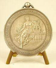 Médaille Fanfare belge de Bruxelles Belgique 25 e anniverssaire 1881-1906 Medal