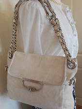 Mulberry Jenah Net A Porter White Tumbled Sheep Leather Handbag + Care Card