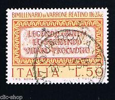 ITALIA 1 FRANCOBOLLO MARCO TERENZIO VARRONE 1974 usato