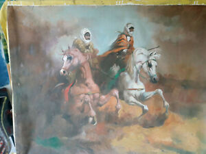arab horsemen  oil  painting on canvas