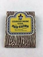 Vintage Shy Clown Casino Country Music USA Matchbook Nevada