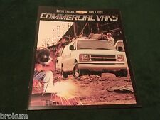 MINT 2002 CHEVROLET CHEVY COMMERCIAL VANS 24 PAGE SALES BROCHURE NEW (BOX 663)