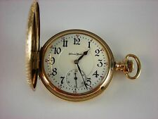 Antique original high grade Illinois Sangamo pocket watch 1910. Nice Hunter case