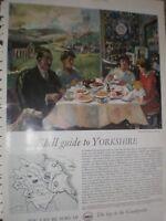 Shell Guide to Yorkshire Charles Mozley art advert 1960 ref AV