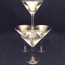 Libbey Martini Glasses 8454 Set of 4 USA UNUSED
