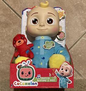 "Cocomelon JJ Doll Plush Musical Bedtime 10"" Soft Toy & Bear Netflix SHIPS NOW 🔥"