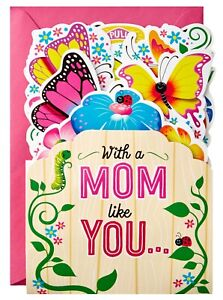 Mother's Day Card- Butterflies and Flowers Musical 3D Pop-Up Mother's Day Card