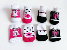 4 Pack NEW BORN Girl Infant Baby Socks 0-6 Month Leopard Floral Pattern Design