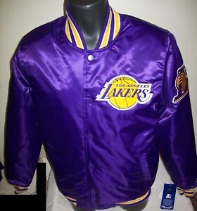 LOS ANGELES LAKERS Starter Throwback Snap Down Jacket PURPLE S M L XL 2X