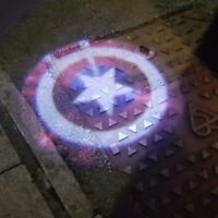 Captain America BMW Audi Range Rover Door Courtesy Laser Projector Shadow Logo