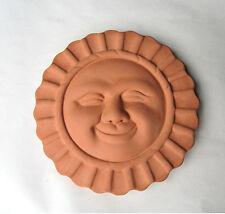 """6"""" Terra Cotta Sun Face Wall Plaque Garden Art Novelty"""