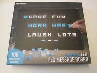 Peg Message Board by Merkury, Light-Up LED, 160 Characters, NIB