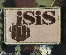 FXCK ISIS MIDDLE FINGER USA INFIDEL ARMY MORALE MULTICAM VELCRO® BRAND PATCH