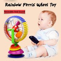 Baby Kid Child Sucker Rainbow Observe Ferris Wheel Rattle Suction High Chair