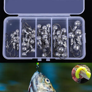 45x Jig Head Fishing Hook Jelly Grub Worm Drop Shot Soft Lure Shad Minnow Perch