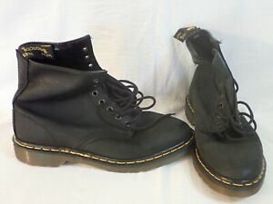 DR. DOC MARTENS AIR WAIR w/ BOUNCING SOLES MENS SIZE 9 8-EYE SOFT LEATHER BOOTS