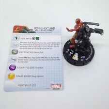 Heroclix Invincible Iron Man set Iron Man and War Machine #043 Super Rare w/card