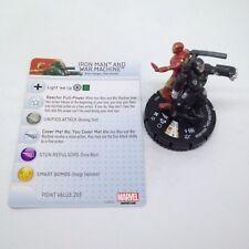 Heroclix Invincible Iron Man set Iron Man and War Machine #043 Super Rare w/card