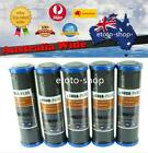 """5 X 0.5 Micron Carbon Impregnated Cellulose Water Filter Cartridges 10"""" x 2.5"""""""