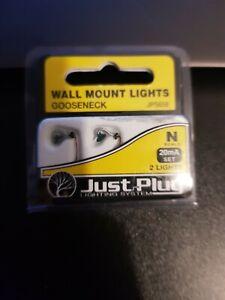 N gauge Just plug lighting JP5658 Entry  Wall Mounted Light Gooseneck