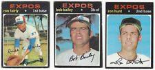 10 1971 TOPPS BASEBALL MONTREAL EXPOS CARDS (FAIRLY/BAILEY/SEMI-HI #+++)