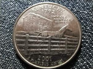 US 50 State Quarters Kentucky 1/4 Dollar Coin 2001 P