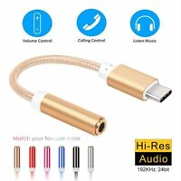 USB 3.1 Type C USB-C to 3.5mm Aux Adapter Earphone Microphone Audio Jack Cable