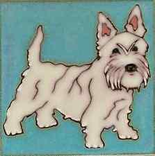 Ceramic Tile West Highland Terrier Westie Dog painting hot plate backsplash art