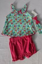 NEW Baby Girls 3pc Outfit Size 12 Month Tank Top Bloomers Headband Set Butterfly