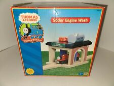THOMAS & FRIENDS Wooden Railway -SODOR ENGINE WASH Free Shipping