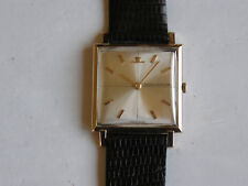 JAEGER LE COULTRE-MANUALE-ORO 18KT(0,750)-CAL.K 818/1C-ANNI 60-RARO-27 X 27 MM