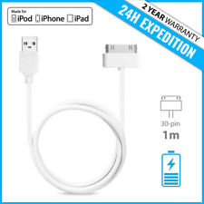 30-PIN CHARGEUR CHARGER CHARGING DATA SYNC CABLE 1M IPHONE 3G 3GS 4 4S IPAD IPOD