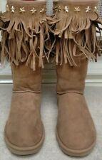 Womens JIMMY CHOO UGG Sora Boots Size 9 Chestnut Shearling EUC