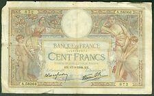 FRANCE 100 FRANCS LUC OLIVIER MERSON du 17/3/1938  ETAT: B   lot : A 58366