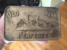 ORIGINAL OLD-WELL-PERFECTO CIGARS-BRASS TRAY SIGN NEWSPAPER PAPERWEIGHT RARE
