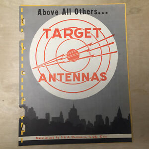 Vtg S&A Electronics Catalog ~ Target Antennas TV 88 Space Master 1950's