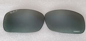 Pre-Owned Ray-Ban RB8313CH Replacement lenses GREY Mirror Chromance 62mm