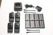 A REPROGRAMMER : Lot de 4 Radio UHF VERTEX VX-800U + 1 chargeur & 8 batteries (G
