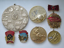 USSR SEVEN PINS OF SOVIET SPORT, FOOTBALL, SOCIALIST EMULATION WHOLESALE!!!