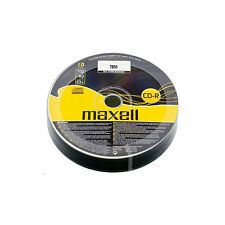 10 Maxell CD-R Discs Recordable 700 MB 80Min (52x) CDR Data & Music Shrink Wrap