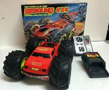 Vintage Tyco R/C Mini Rebound 4x4 w/ Box, Remote and Charger, Red & Silver 49MHz