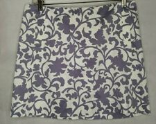 Mini Skirt Pockets Pattern Purple Lavender White Floral 4 Stretch Cotton J.Crew